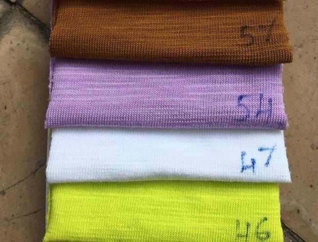 Vải thun cotton sớ gỗ