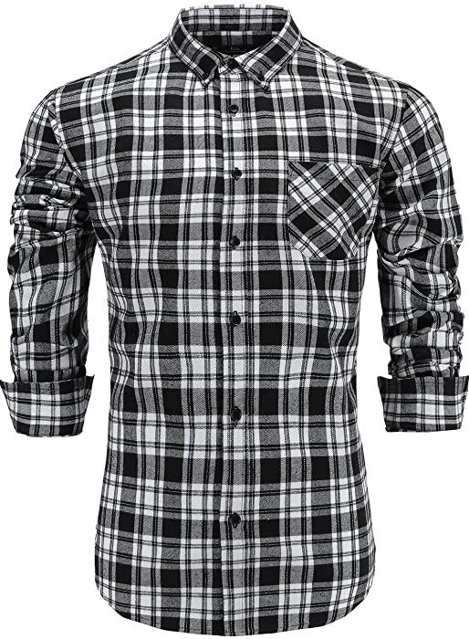 Áo sơ mi flannel100% brushed cotton