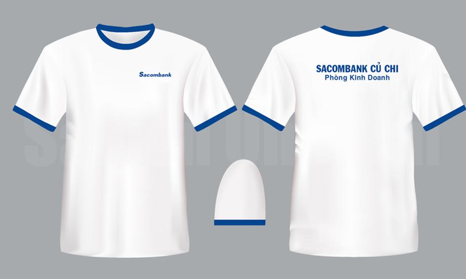 In áo đồng phục ngân hàng sacombank